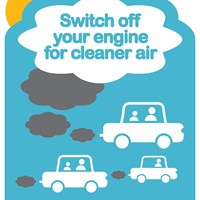 Switch off your engine for clean air poster Switch off your engine for clean air poster
