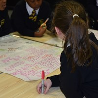 English Martyrs 16 Children from English Martyrs School working on a mind map
