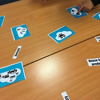 Rushey Mead 2 Activity cards being used by a child