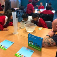 Rushey Mead 10 Children concentrating on an activity together
