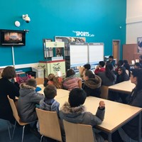 Rushey Mead 17 Classroom watching a video together